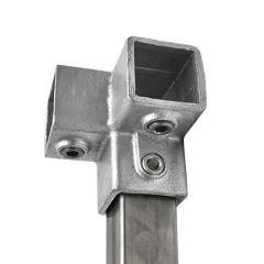Drieweg Kniestuk 90° - vierkant (40mm)