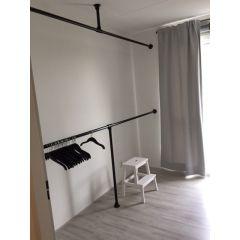 Kledingrek Rouen| Zwart 33.7 mm | Vloer/Wand | DIY