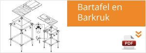 Werktekening Steigerbuis Bartafel / Barkruk