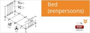 Werktekening Steigerbuis Bed