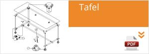Werktekening Steigerbuis Tafel